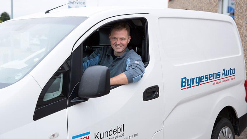 Gratis lånebil når din bil er i service hos Byrgesens auto autoværksted i Odense